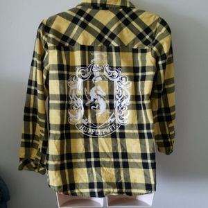 Harry Potter Hufflepuff plaid shirt, size 2x